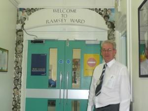 Peter at Ramsey front door